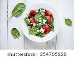 Salad With Spinach Leaves ...
