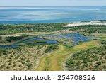 Aerial View Of Shallow Coastal...