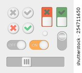 vector toggle switch icons. on...