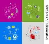 education sticker infographic | Shutterstock .eps vector #254712328