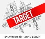 target word cloud  education... | Shutterstock .eps vector #254716024