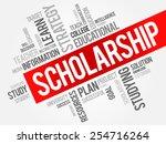 scholarship word cloud ...   Shutterstock .eps vector #254716264