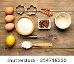 food ingredients and kitchen... | Shutterstock . vector #254718220