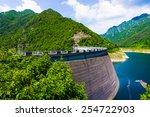 Big Dam. Dam In The Mountains