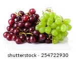 Black And White Grapes Isolate...