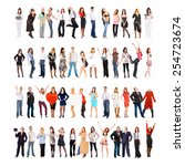 teams over white workforce... | Shutterstock . vector #254723674