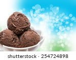 close up of ice cream | Shutterstock . vector #254724898