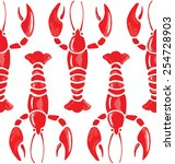 Lobster Watercolor Seamless...