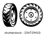 vector set of monochromatic... | Shutterstock .eps vector #254729410
