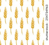 wheat branch seamless pattern | Shutterstock .eps vector #254734963