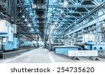 machine shop of metallurgical... | Shutterstock . vector #254735620