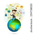 vector communication flat... | Shutterstock .eps vector #254738020