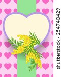 heart with mimosa | Shutterstock .eps vector #254740429