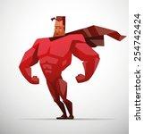 superhero  vector | Shutterstock .eps vector #254742424