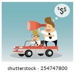 office worker looking through... | Shutterstock .eps vector #254747800