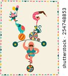 vintage poster with carnival ...   Shutterstock .eps vector #254748853