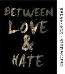 slogan t shirt graphic in... | Shutterstock .eps vector #254749168