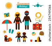 Color Vector Flat Icons Set Of...