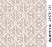 vintage seamless pattern ... | Shutterstock .eps vector #254754094