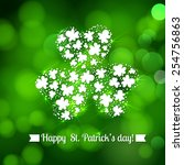 st. patrick day card  many... | Shutterstock .eps vector #254756863