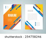 flyer brochure design template...   Shutterstock .eps vector #254758246