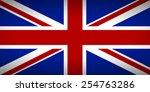 flag of the united kingdom.... | Shutterstock .eps vector #254763286