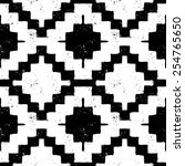 vector seamless ethnic pattern... | Shutterstock .eps vector #254765650