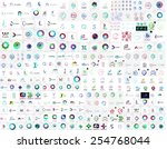 mega collection of universal... | Shutterstock .eps vector #254768044