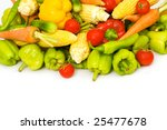 various vegetables isolated on... | Shutterstock . vector #25477678