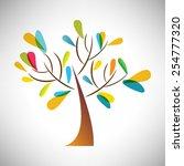 vector illustration of abstract ... | Shutterstock .eps vector #254777320