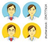 vector doctors avatars icons...
