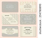 set of vector invitation... | Shutterstock .eps vector #254780890