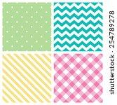seamless abstract pattern set   ... | Shutterstock .eps vector #254789278