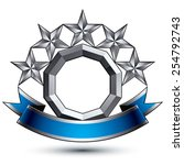 3d vector classic royal symbol  ...   Shutterstock .eps vector #254792743