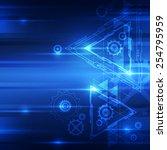 vector digital speed technology ... | Shutterstock .eps vector #254795959