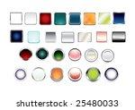 web buttons set | Shutterstock .eps vector #25480033