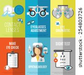 oculist mini poster set with... | Shutterstock .eps vector #254803726