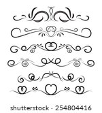 set of page decoration line... | Shutterstock .eps vector #254804416