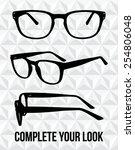 vector glasses silhouette.... | Shutterstock .eps vector #254806048