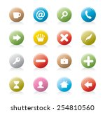rounded buttons | Shutterstock .eps vector #254810560