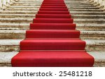 ancient stairs covered with red ... | Shutterstock . vector #25481218