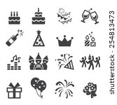 birthday icon | Shutterstock .eps vector #254813473