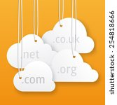 vector cloud hosting... | Shutterstock .eps vector #254818666