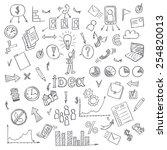 business doodles. vector... | Shutterstock .eps vector #254820013