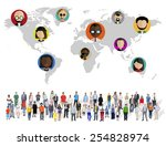 global community world people... | Shutterstock . vector #254828974