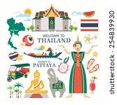 travel thailand | Shutterstock .eps vector #254839930