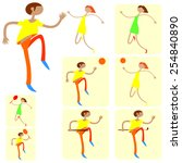 dancing and sports persons.... | Shutterstock .eps vector #254840890