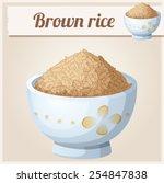 bowl of brown rice detailed