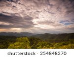 sunset and the sun is shining... | Shutterstock . vector #254848270