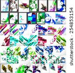 set of abstract backgrounds.... | Shutterstock .eps vector #254853154